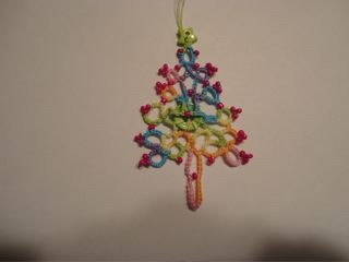 Christmas Tree on a Button by Jane Eborall